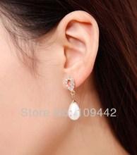 wholesale silver pearl earring