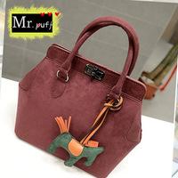 New winter handbags wholesale  temperament bat embarrassing suede handbag bag PU shoulder bag diagonal wave packet