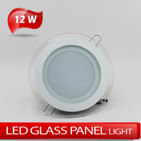 LED Circular Glass Panellight 12W Warm white/Clod white AC85~265V