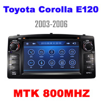 Car DVD for Toyota Corolla E120 2003-2006 BYD F3 old with CPU MTK 800MHZ Dual Core Radio Tape Recorder Stereo Free Shipping