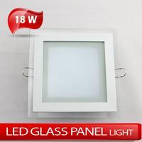 18W Square LED Glass Panellight High brightness 5730SMD LED Downlight AC85~265V Warrm white/Cold white