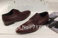 Retro Designer Brand Men Oxford Shoes Fashion New Flat Formal Dress Shoes for Wedding Casual Business Men Shoes