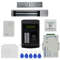 Remote Control 125KHz RFID LCD Fingerprint Keypad ID Card Reader Access Control System Kit + Electric Magnetic Lock  208I-S