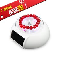 Solar mobile phone rotary table led lighting rotating display stand rack jewelry rotating display swivel plate truntable