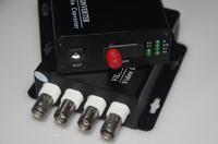 FedEx/EMS Free Shipping,1pair 4 channel video data fiber optic media converter,4v1d,RS485,FC/Single mode,Anti-lightning!