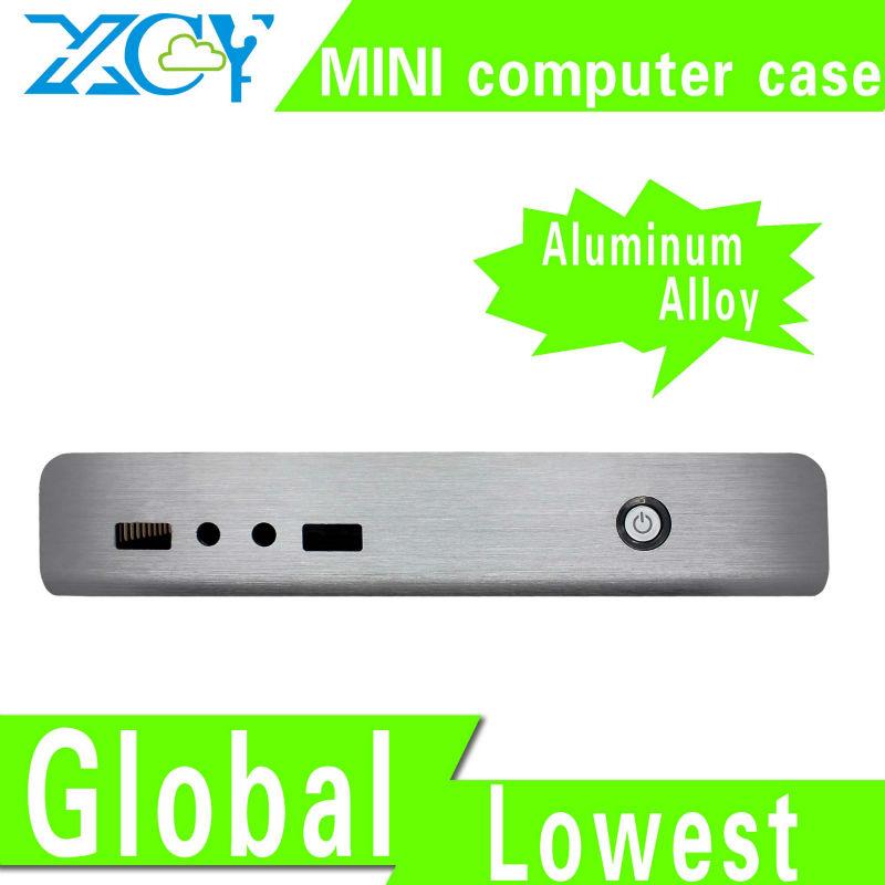 XCY L-18 aluminum computer enclosure small computer case aluminum alloy material support RJ-45 port/microphone/earphone(China (Mainland))