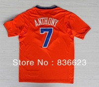 Wholesale - New Arrival  2014 Christmas #7 Carmelo Anthony Men's basketball jersey Embroidery logos size: S-XXXL