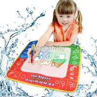 2014 New 49 x 49 cm Aqua Magic Doodle Mat/Aquadoodle Magic Water Doodle Drawing Mat For Children 1 mat+2 magic pens 19381