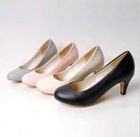 Women single shoes high heels woman plus small size 33 40 wedding shoes