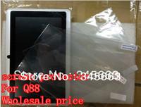 100 pcs Free Shipping Q88 7 inch tablet screen protector guard lcd screen protective film  for 7 inch tablet Q88 +Tracking No.