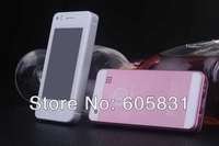 Free shipping New arrive super mini Smartphone 5S phonebady Android 4.0 MTK6517 Four color Unlocked Dual sim cell mobile phone