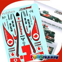 1:10 Car RC Decal Sticker/Paper FACEWORX/FWF005/F1 2012 McLaren MP4-27(FREE SHIPPING)
