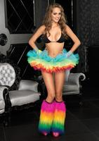 """2015 New Arrival Sex Women Rainbow Organza 5"""" Tutu Petticoat Perfect For Party Clubwear Sex  Costome"""