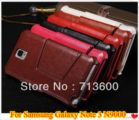 Fine Sheep Grain Skin Leather Wallet Case For Samsung Galaxy Note 3 III N9000 N9006 With Stand Holder