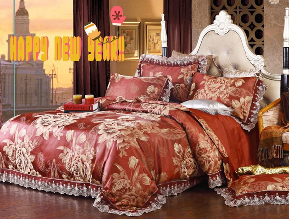 Bedding 2017 Luxury Set Wedding Bed Silk Modal Duvet Cover Comforter Bedspreads Sheet