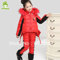 Children's clothing female winter child sweatshirt thickening kids clothes girls wadded jacket cotton-padded coat