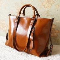 2014 seconds kill fashion vintage oil wax leather bag cowhide women handbag motorcycle cross-body shoulder big bag,free shipping