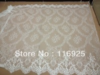 1.5 yards Free Shipping Gorgeous Handmade French Chantilly Double Edge Lace Fabric