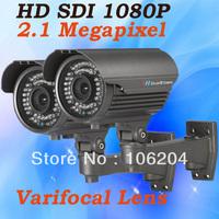 HD SDI CCTV Camera 1080P 2.0 Megapixels Analog camera Manual Zoom Lens 2.8-12mm 40m night vision infrared Bullet Camera