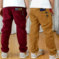 LOW PRICE high quality Male child corduroy pants plus velvet thickening children's clothing female child trousers