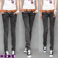 2013 spring and autumn casual pants of girls elastic jeans female slim skinny pants female