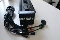 220v electric rj45 desktop socket pop up for conference table