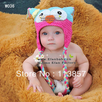 Animal cotton beanies baby crochet boy products