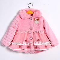 Toddlers Girls Junoesque Baby Faux Fur Fleece Lined Coat Kids Winter Warm Jacket free shipping 5460