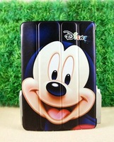 Wholesale Cute Minnie Mickey Flip Foldable Stand Kids Leather Cases Smart Cover For Apple ipad mini 2 3 4 5 Air Protector 08214