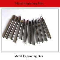 10pcs/lot 3.175mm Shank 25 Degree 0.1mm  Metal Engraving Bits CNC Carbide Tools for Carving Steel, Copper, Aluminum, Iron