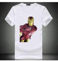 Free Shipping Movie Iron Man Print T-Shirt Adult IronMan Shirt With High Quality Print White Print Summer Shirt