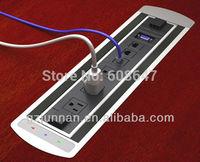 220v electric rj45 desktop pop up socket outlet for conference table