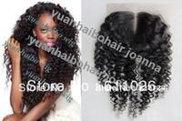 "Top 6a quality 100% virgin brazilian hair 3.5x4 16"" #1B 150% density deep wave middle part lace front closure"