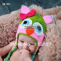 Cotton baby hand made cap crochet baby beanies animal caps newborn baby hats