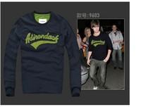 Fashion biggie Beckham design Plus size  dark bule sweatshirt homme Egyptian embroider  men brand pullover