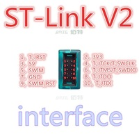 Free Shipping~10SET ST-Link V2 for STM8S STM8L STM32 Cortex-M0 Cortex-M3 SWIM JTAG SWD interface Programmer factory direct sale