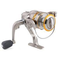 SG 5000 5.1 1 Gear Ratio 6 Ball Bearings Spinning Spool Reel Roller Silver + Gold