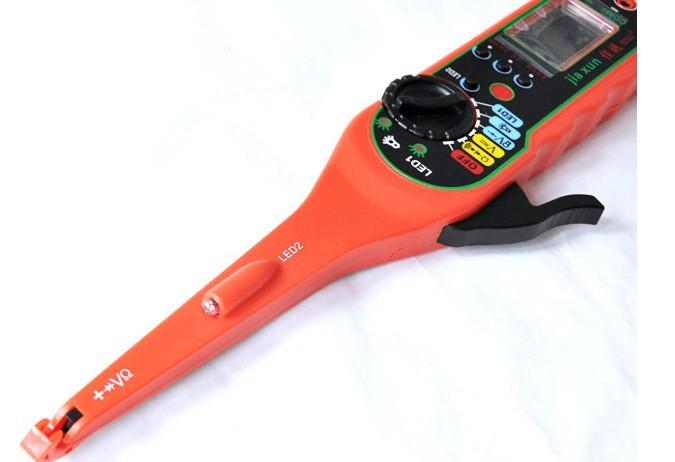 2014 new arrived Car Multimeter Tester Multi-function Auto Circuit Tester multimeter + test lamp + lighting lamp + probe (red)(China (Mainland))