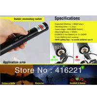 G301 Green Laser Pointer Pen Focus 532NM Burning Lazer Visible Adjustable Beam+Battery Charger EU Plug- Black