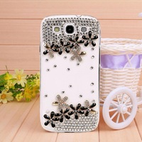 New Transparent shell diamond lucky clover case for Samsung galaxy S3 case for I9300 Mobile Border Protection free shipping