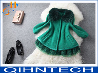2014 autumn winters Europe and the United States small sweet wind new style Cultivate one's morality temperament lace cloth coat