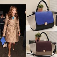 Free shipping 2014 women fashion messenger bags patchwork leather handbag designer brand women's shoulder bags Y0162
