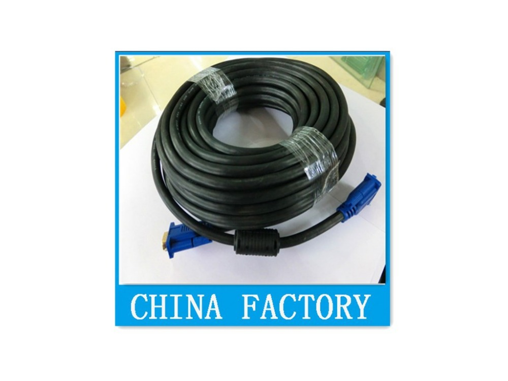 10M VGA/SVGA HDB15 Male to HDB15 Male Connector Extension Cable 100pcs(China (Mainland))