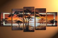 Details about  5PC MODERN ABSTRACT HUGE WALL ART OIL PAINTING ON CANVAS (no framed)