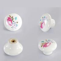 Tulip Ceramic Cabinet Handles Cupboard Drawer Handles Pulls Knobs Single Hole Knob