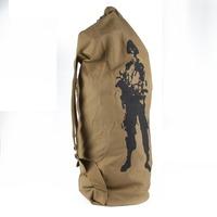 DropShipping Canvas Barrel Combat Army Tactical Rucksacks Camping Backpack Bags Outdoor FreeShipping