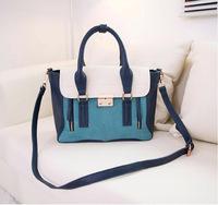 New 2013 Women's messenger bag Women fashion Nubuck leather handbags designers brand Patchwork shoulder bag high quality Y0201