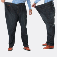 Plus size j plus size trousers fat loose male trousers thin business casual jeans