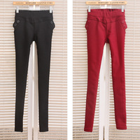 162 - 983 candy clothing 2013 female winter slim thickening plus velvet basic casual trousers