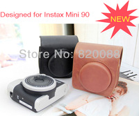 New Fujifilm Instax Mini 90 Camera Leather Case Bag with Shoulder Strap